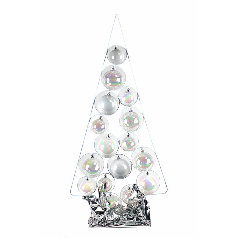 Silver-White Wired Bauble Tree