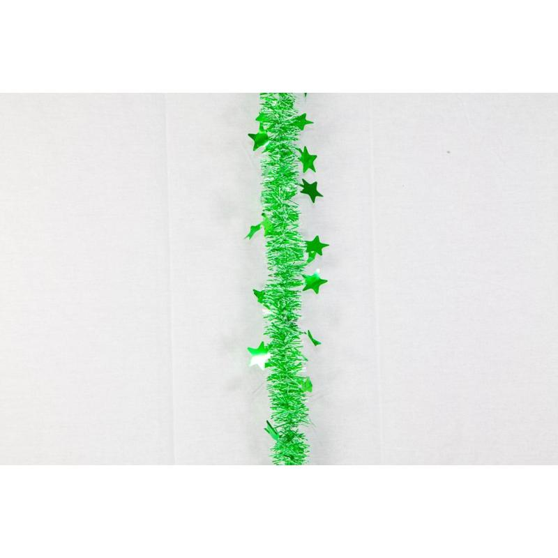 Green Star Edge Tinsel 6cm 6ply 2.5m