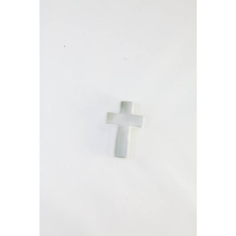 Cross Cookie Cutter White 3 inch